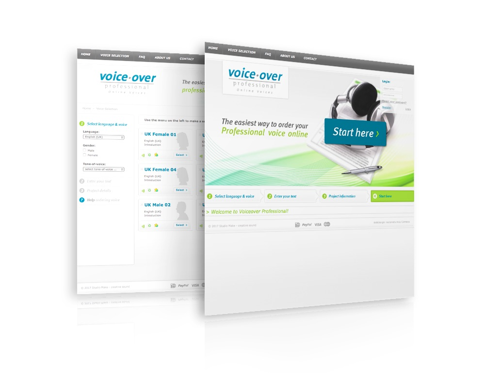 voiceover professional website - online voices