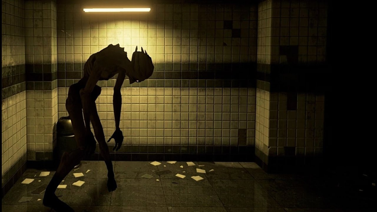alien in subway hallways
