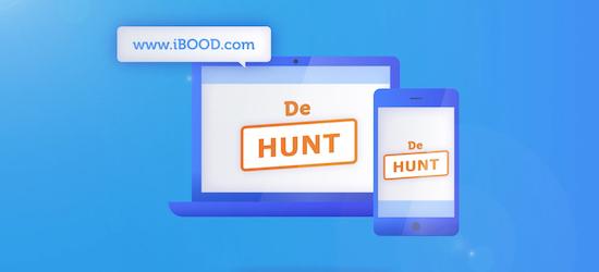 iBood Hunt - portfolio page